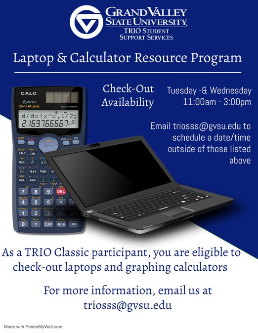 Laptop and Calc Check out poster